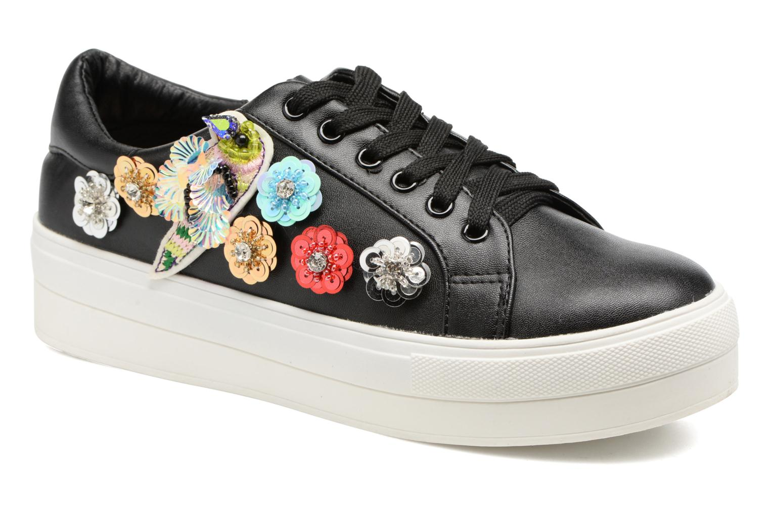 Trainers Molly Bracken Flower Sneakers Black detailed view/ Pair view