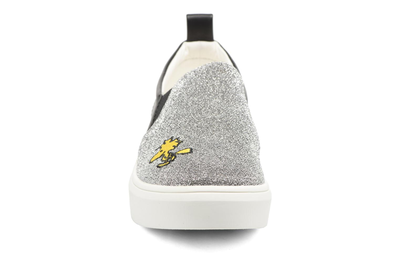 Baskets Esprit Snoopy Elda sleep on Gris vue portées chaussures