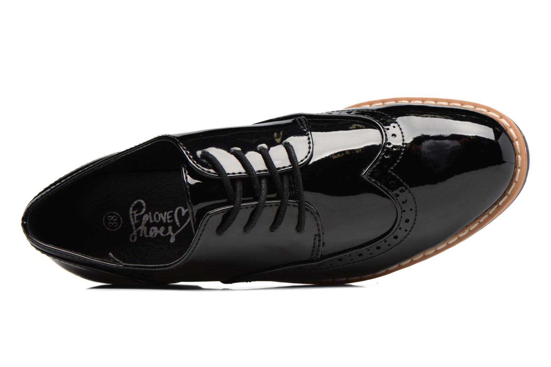 Schnürschuhe I Love Shoes FANELY schwarz ansicht von links