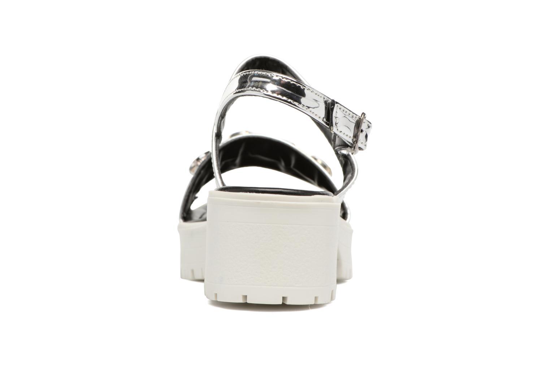 Sandales et nu-pieds MTNG Speck 51607 Argent vue droite