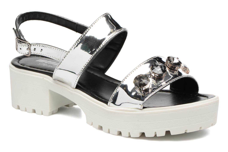 Sandales et nu-pieds MTNG Speck 51607 Argent vue détail/paire