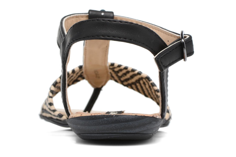 Sandales et nu-pieds MTNG Brush 53533 Noir vue droite