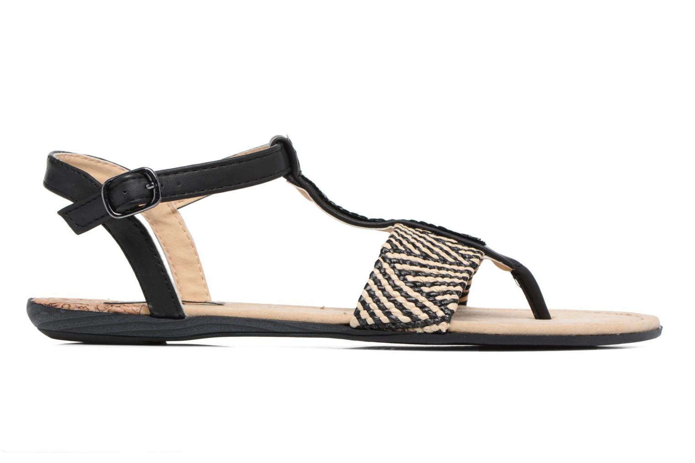 Sandales et nu-pieds MTNG Brush 53533 Noir vue derrière