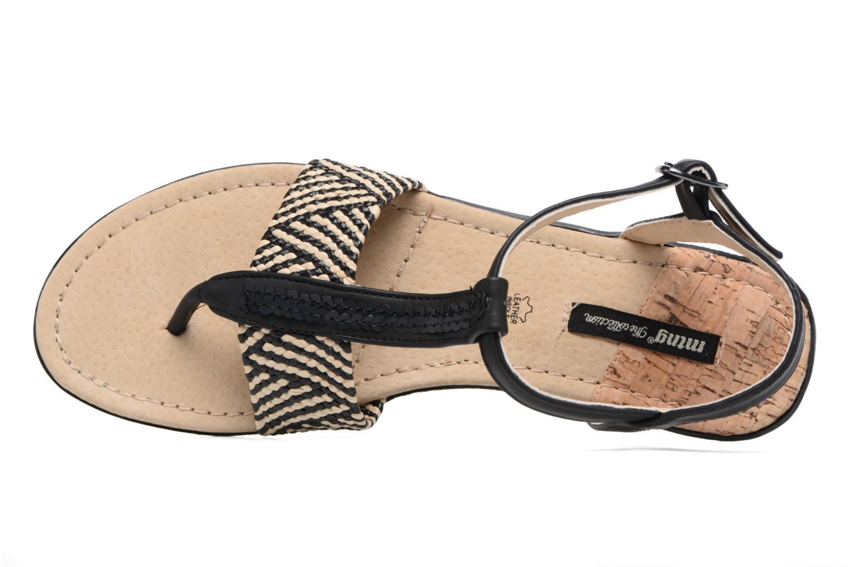 Sandales et nu-pieds MTNG Brush 53533 Noir vue gauche