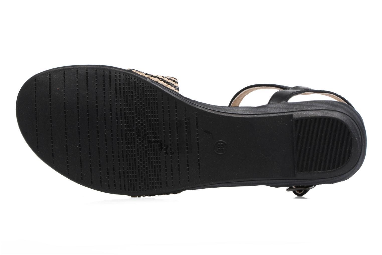 Sandales et nu-pieds MTNG Brush 53533 Noir vue haut