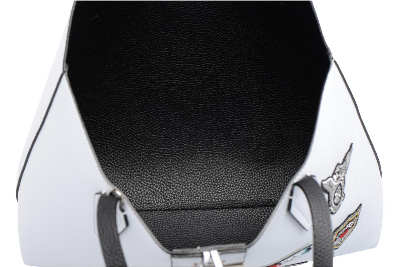 Cabas Reversible Patchs Bobbi Noir WHITE BLACK-WTB