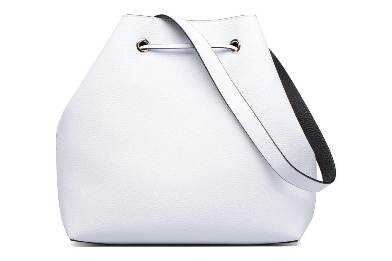 Handtassen Guess Seau Reversible Patchs Bobbi Noir Wit voorkant