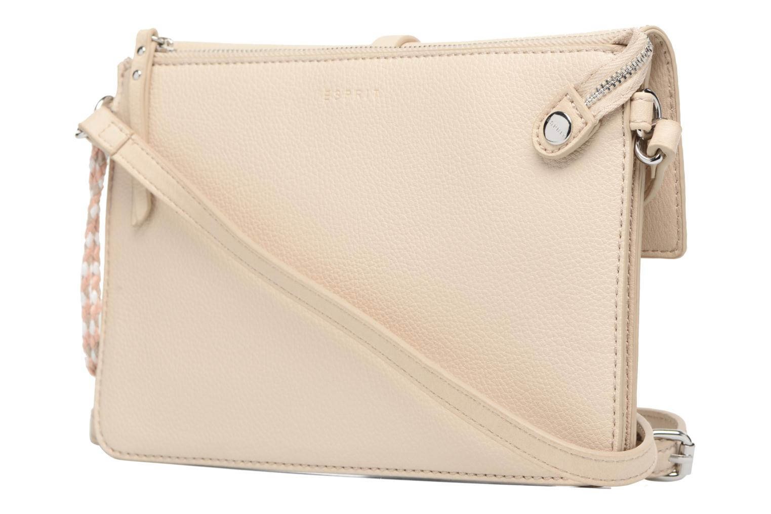Handbags Esprit Tracy Shoulderbag Beige view from the right