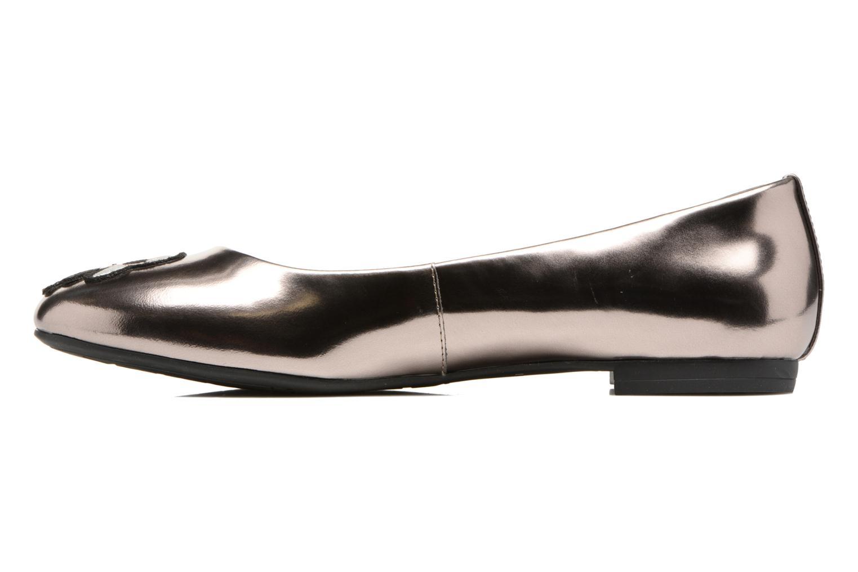 Ballet pumps Karl Lagerfeld Klara Ikonic Ballet Pump Silver front view