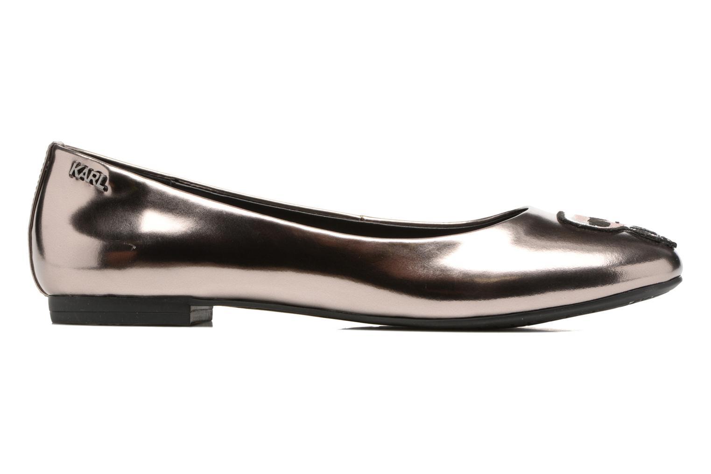 Ballet pumps Karl Lagerfeld Klara Ikonic Ballet Pump Silver back view