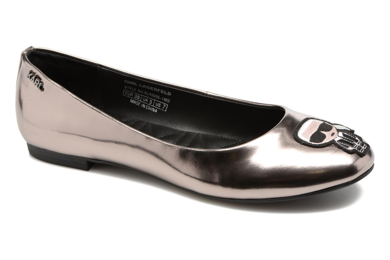Grandes descuentos últimos zapatos Karl Lagerfeld Klara Ikonic Ballet Pump (Plateado) - Bailarinas Descuento