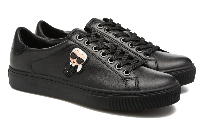 Sneakers Karl Lagerfeld Kupsole Karl Ikonik Lo Lace Svart 3/4 bild