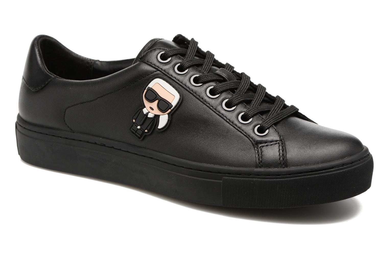 Sneakers Karl Lagerfeld Kupsole Karl Ikonik Lo Lace Sort detaljeret billede af skoene
