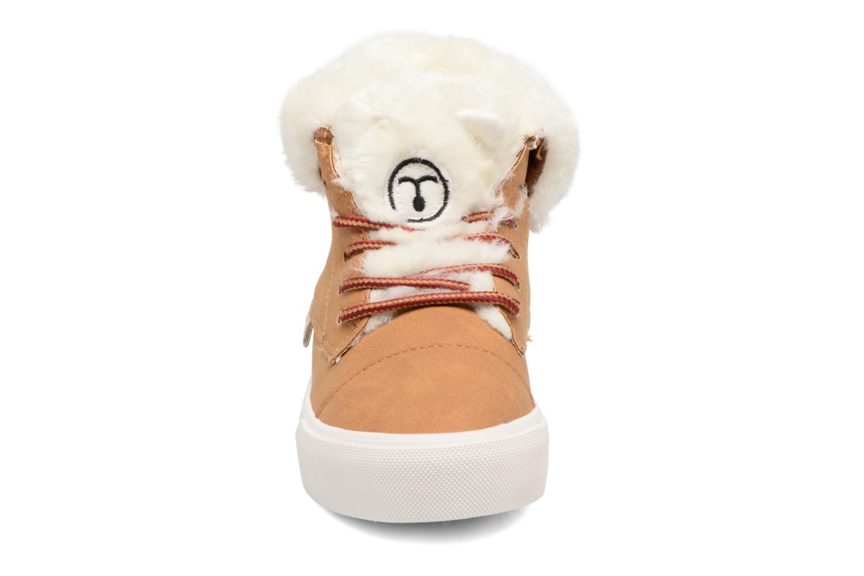 Baskets I Love Shoes THULYE Marron vue portées chaussures