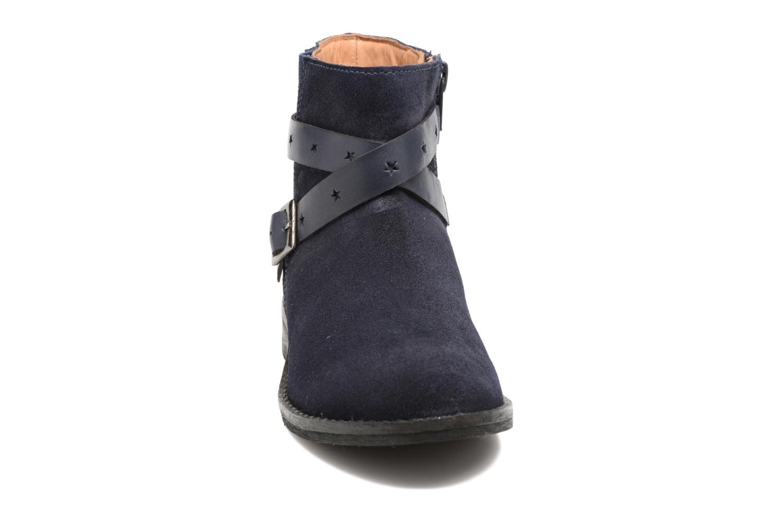 Stivaletti e tronchetti I Love Shoes SELIA LEATHER Azzurro modello indossato