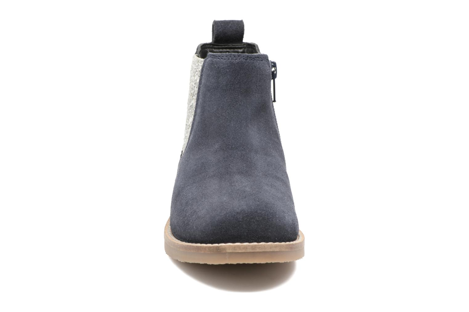 STEFFI LEATHER NAVY/ silver