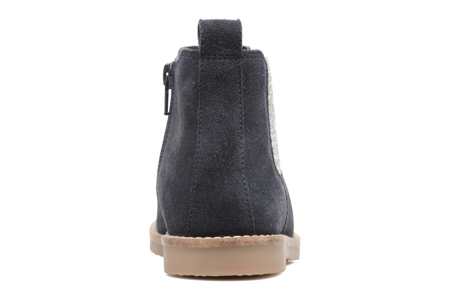 Ankle boots I Love Shoes STEFFI LEATHER Blue view from the right