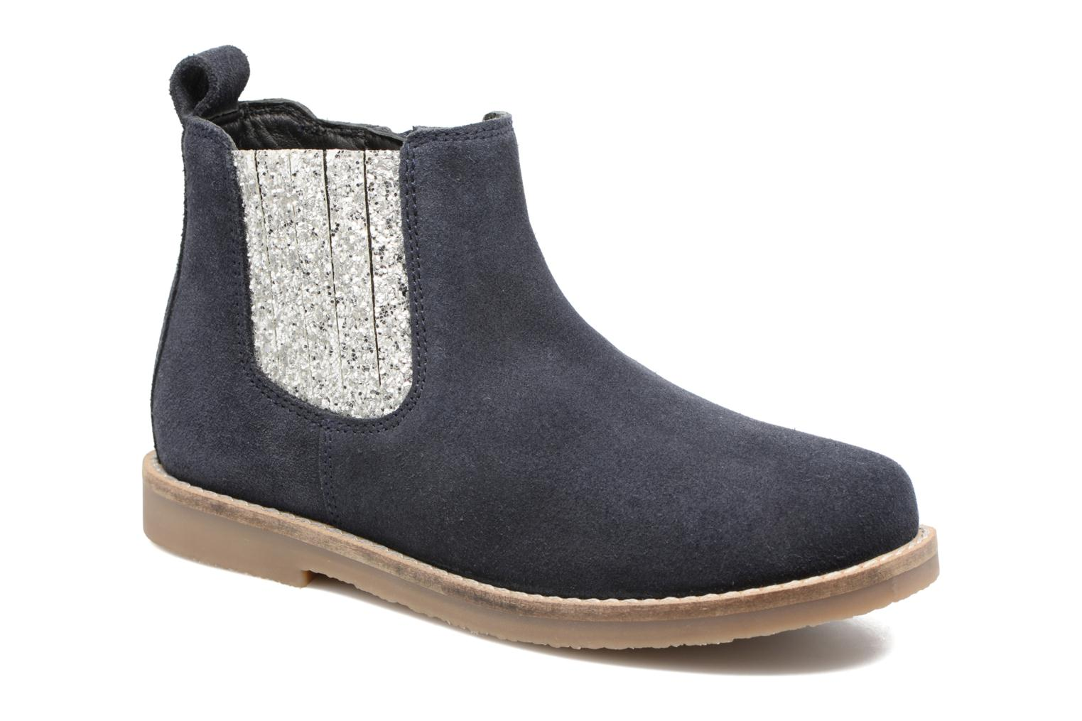 Ankle boots I Love Shoes STEFFI LEATHER Blue detailed view/ Pair view