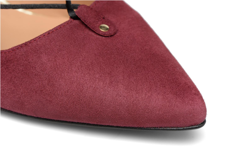 Shoe Officer #8 Cuir Velours Bordeaux