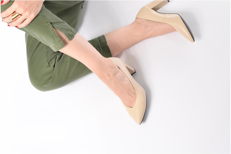 Zapatos de tacón Made by SARENZA Crazy Seventy #5 Plateado vista de abajo