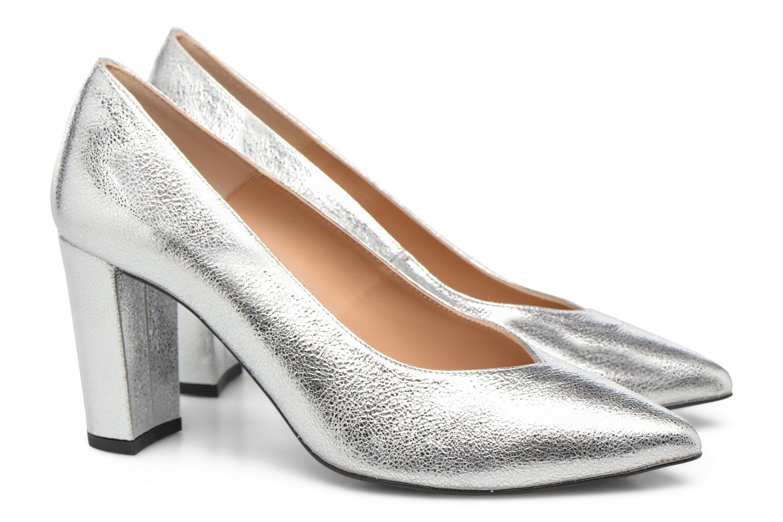 Zapatos de tacón Made by SARENZA Crazy Seventy #5 Plateado vistra trasera