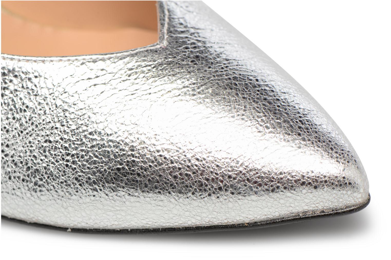 Zapatos de tacón Made by SARENZA Crazy Seventy #5 Plateado vista lateral izquierda