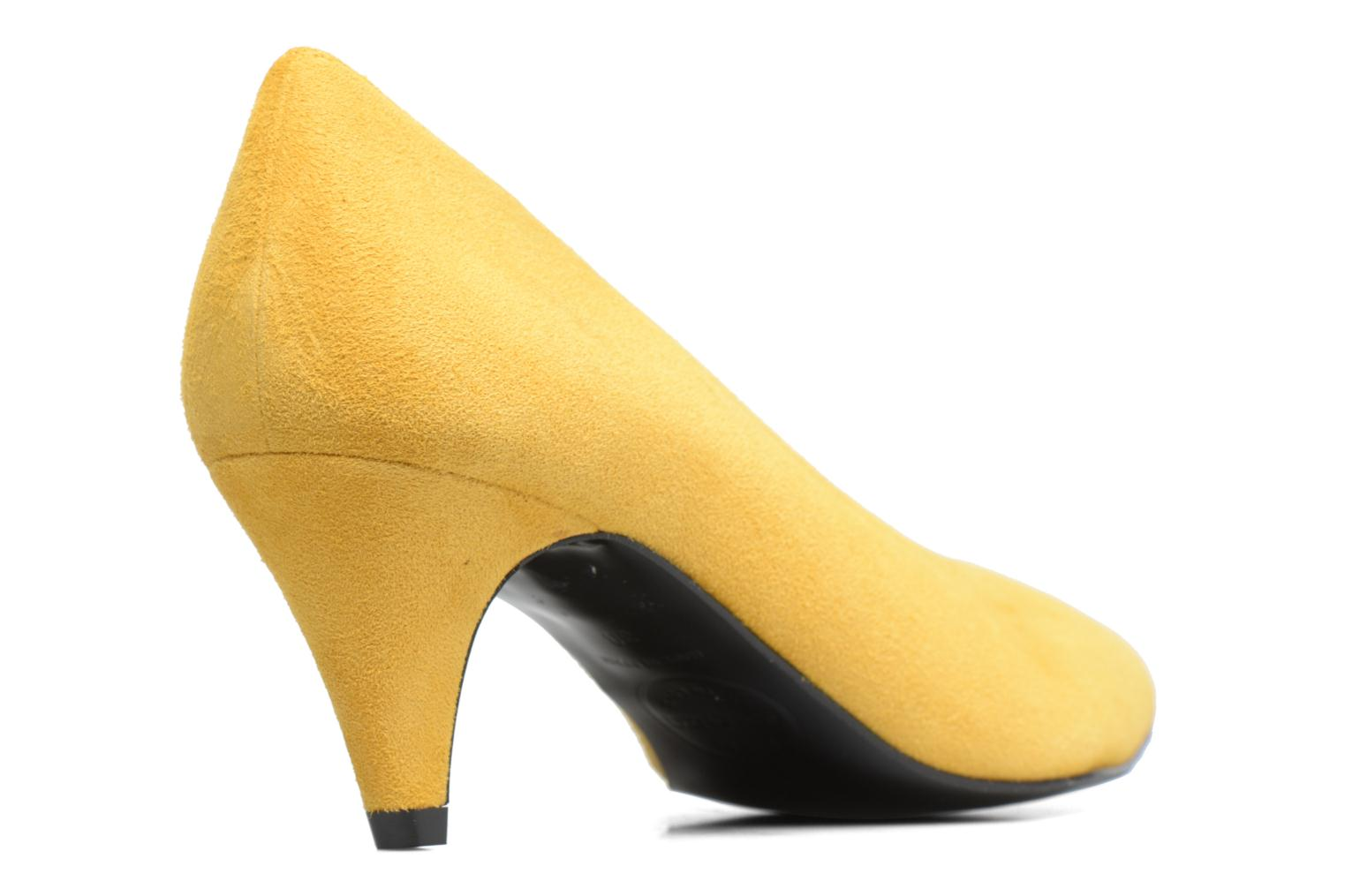 90's Girls Gang Escarpins #3 Cuir Velours Jaune