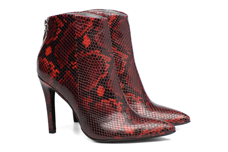 Bottines et boots Free Lance Itlys 9 zip back boot Rouge vue 3/4