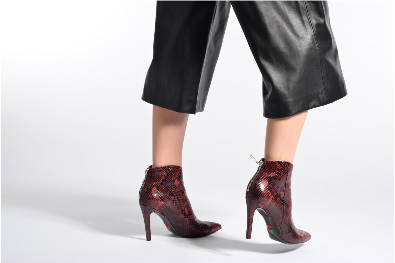 Bottines et boots Free Lance Itlys 9 zip back boot Rouge vue bas / vue portée sac