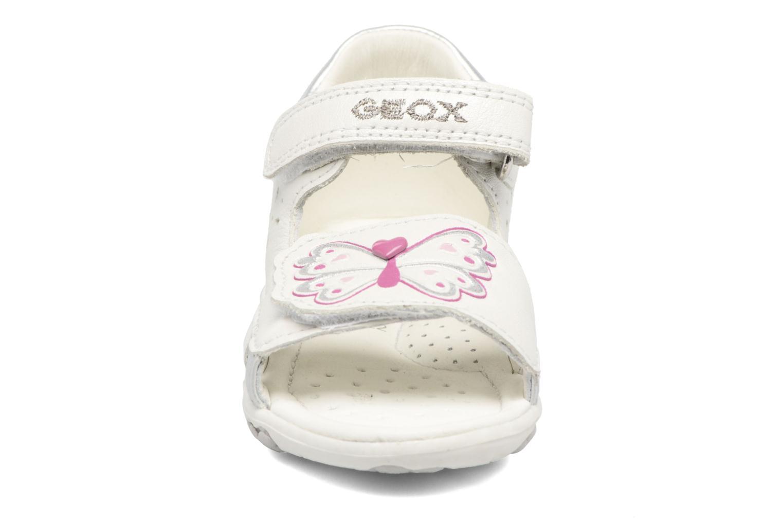 Sandales et nu-pieds Geox B SANDAL NICELY C Blanc vue portées chaussures