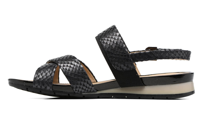 Sandalen Geox D FORMOSA B II Zwart voorkant