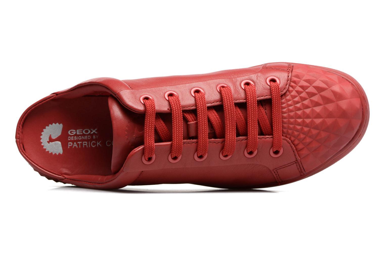 Baskets Geox D JAYSEN D Rouge vue gauche
