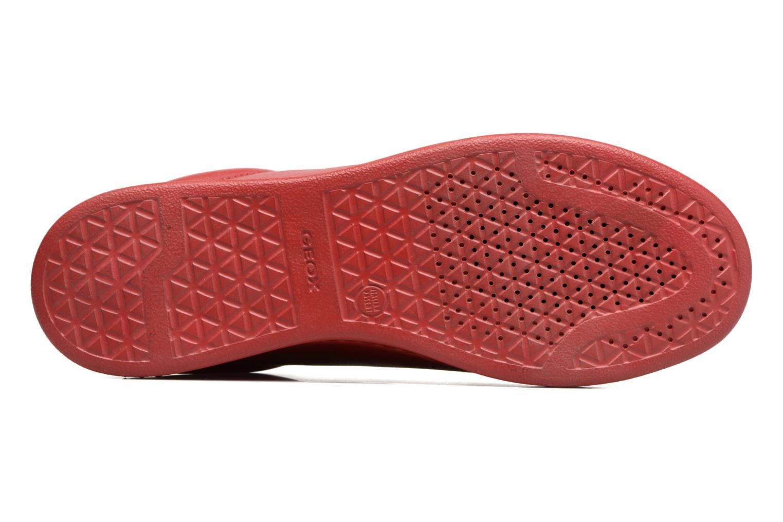 Baskets Geox D JAYSEN D Rouge vue haut