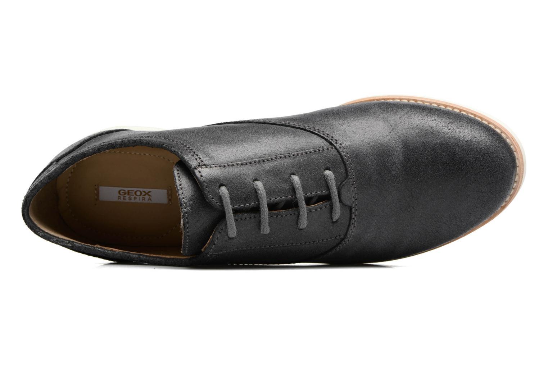 Chaussures à lacets Geox D PROMETHEA B Noir vue gauche