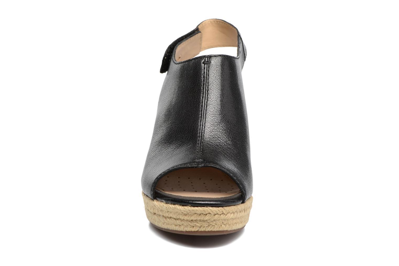 Espadrilles Geox D SOLEIL A Noir vue portées chaussures