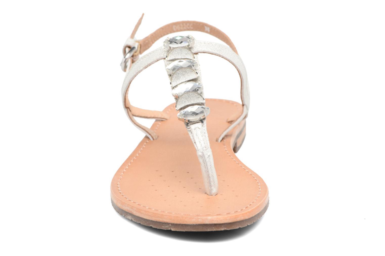 Sandales et nu-pieds Geox D SOZY C Argent vue portées chaussures