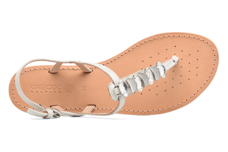 Sandales et nu-pieds Geox D SOZY C Argent vue gauche