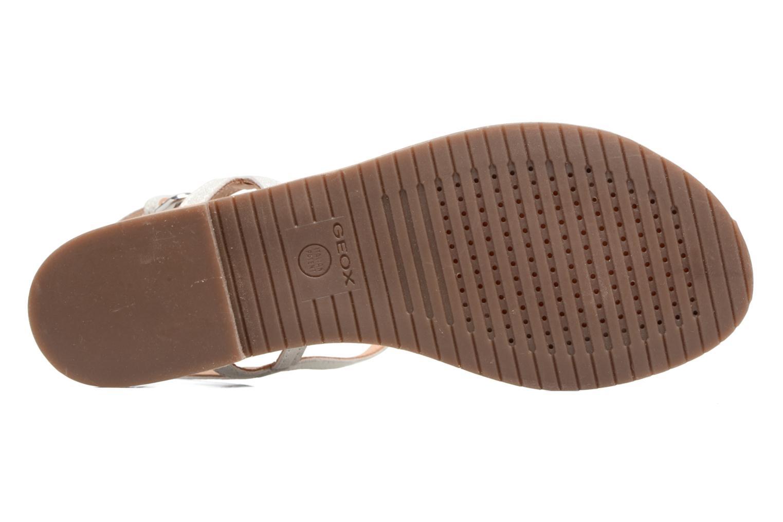 Sandales et nu-pieds Geox D SOZY C Argent vue haut