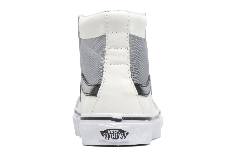 Baskets Vans SK8-Hi Slim Cutou Blanc vue droite