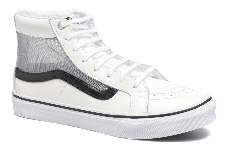 Baskets Vans SK8-Hi Slim Cutou Blanc vue détail/paire