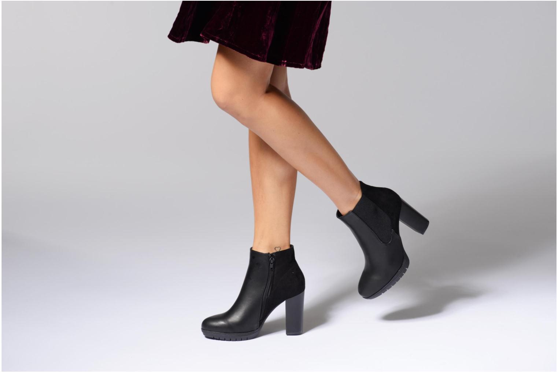 Bottines et boots Divine Factory Soon Noir vue bas / vue portée sac