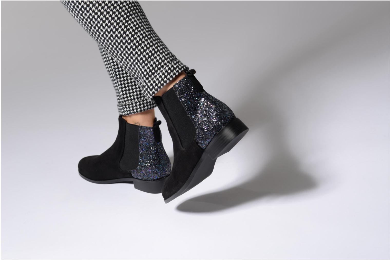 Bottines et boots Divine Factory Divny Noir vue bas / vue portée sac
