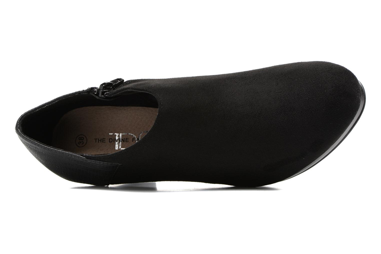 Bottines et boots Divine Factory Kosny Noir vue gauche