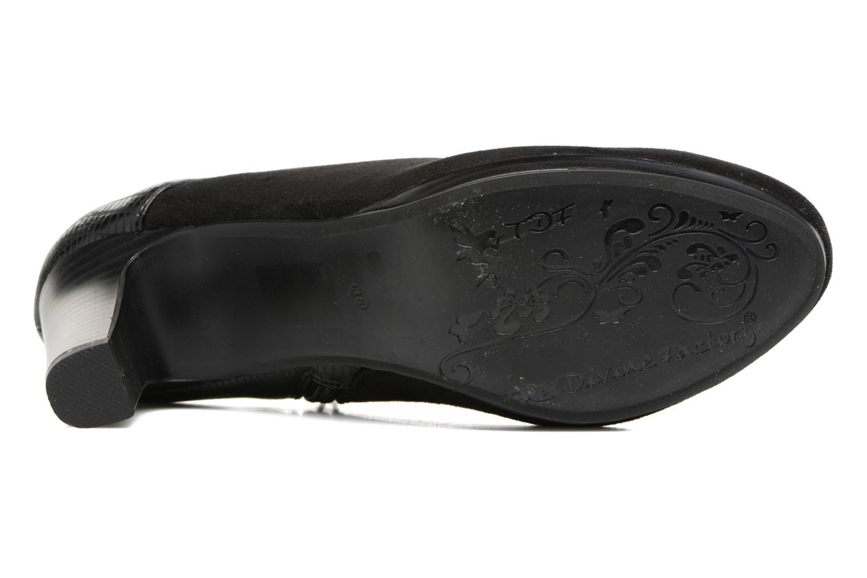Bottines et boots Divine Factory Kosny Noir vue haut