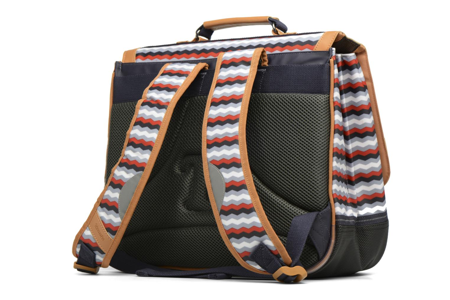 School bags Tann's Cartable 38cm Zig-Zag Blue view from the right