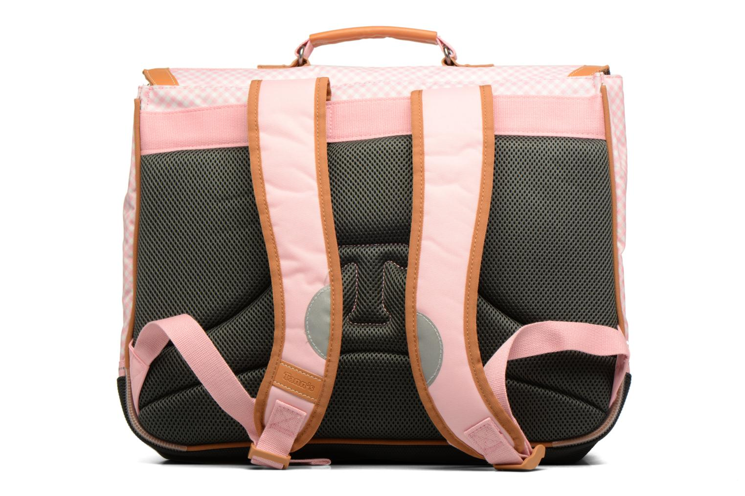 Cartable 41cm Vichy Rose poudré