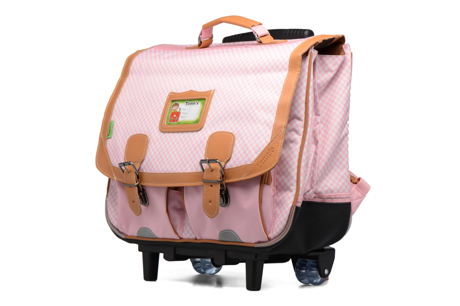 Cartable 41cm Trolley Vichy Rose poudré