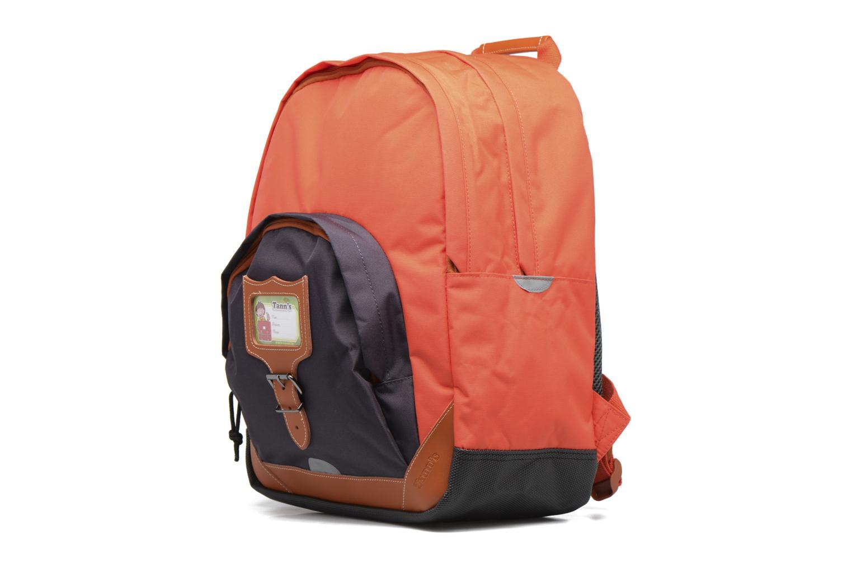 Scolaire Tann's Sac à dos L Iconic Orange vue portées chaussures