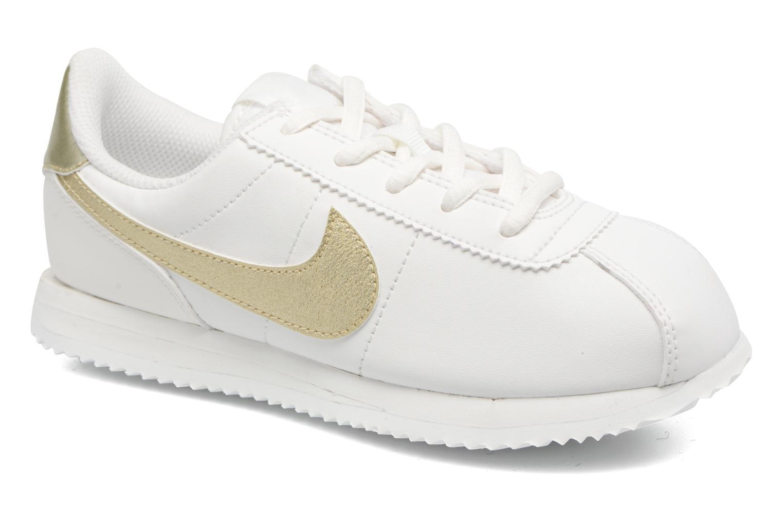 Baskets Nike Cortez Basic Sl (Ps) Blanc vue détail/paire