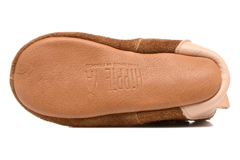 Pantofole Hippie Ya Vic Marrone immagine dall'alto
